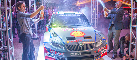 Vivo Energy Kenya and Chandaria Industries Limited sponsor the Quentin Mitchell Rally Team