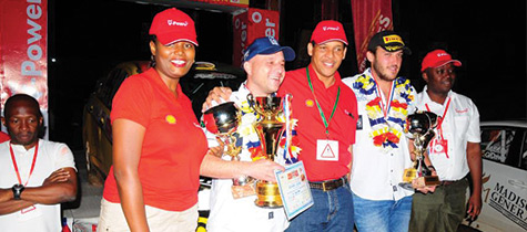 Shell V-Power Pearl of Africa Uganda rally 2014 flagged off
