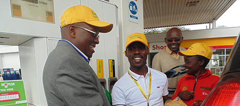 Look out for free fuel at a Shell service station near you