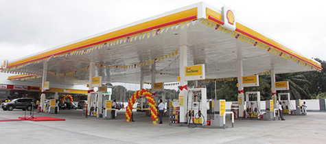 The largest Shell service station re-opens in Ghana