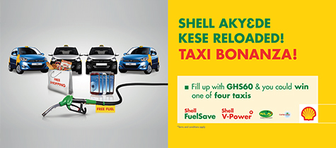 Opportunities to win prizes at Shell service stations Vivo Energy Launches Shell Taxi Bonanza Promotion
