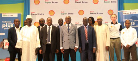 Ceremonie de lancement Shell diesel extra & Shell super extra