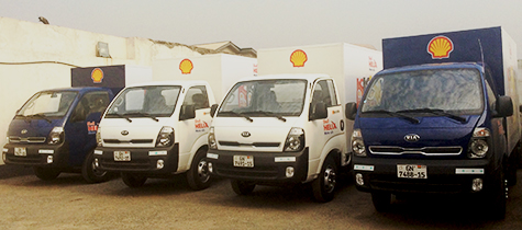 Shell lubricants distributors receive brand new trucks