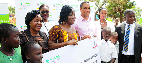 Vivo Energy Uganda donates desks and solar lamps to Police Children's School- Nsambya