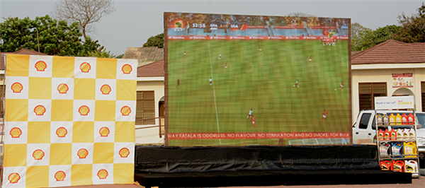 Shell mounts giant screens for football fans