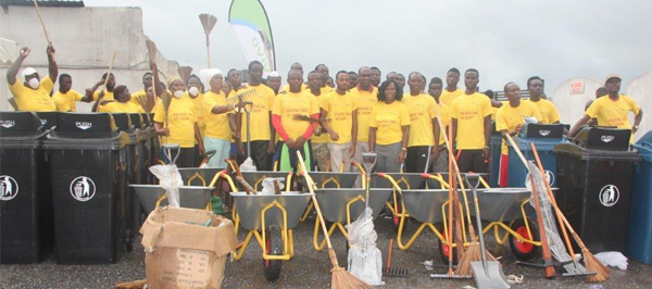 Vivo Energy staff and Host Community embark on a clean-up exercise